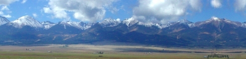 Sangre de Cristo mountains in Westcliffe, Colorado